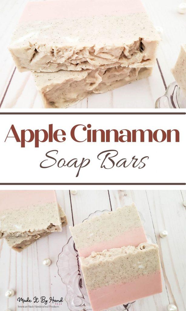 Apple cinnamon soap bars