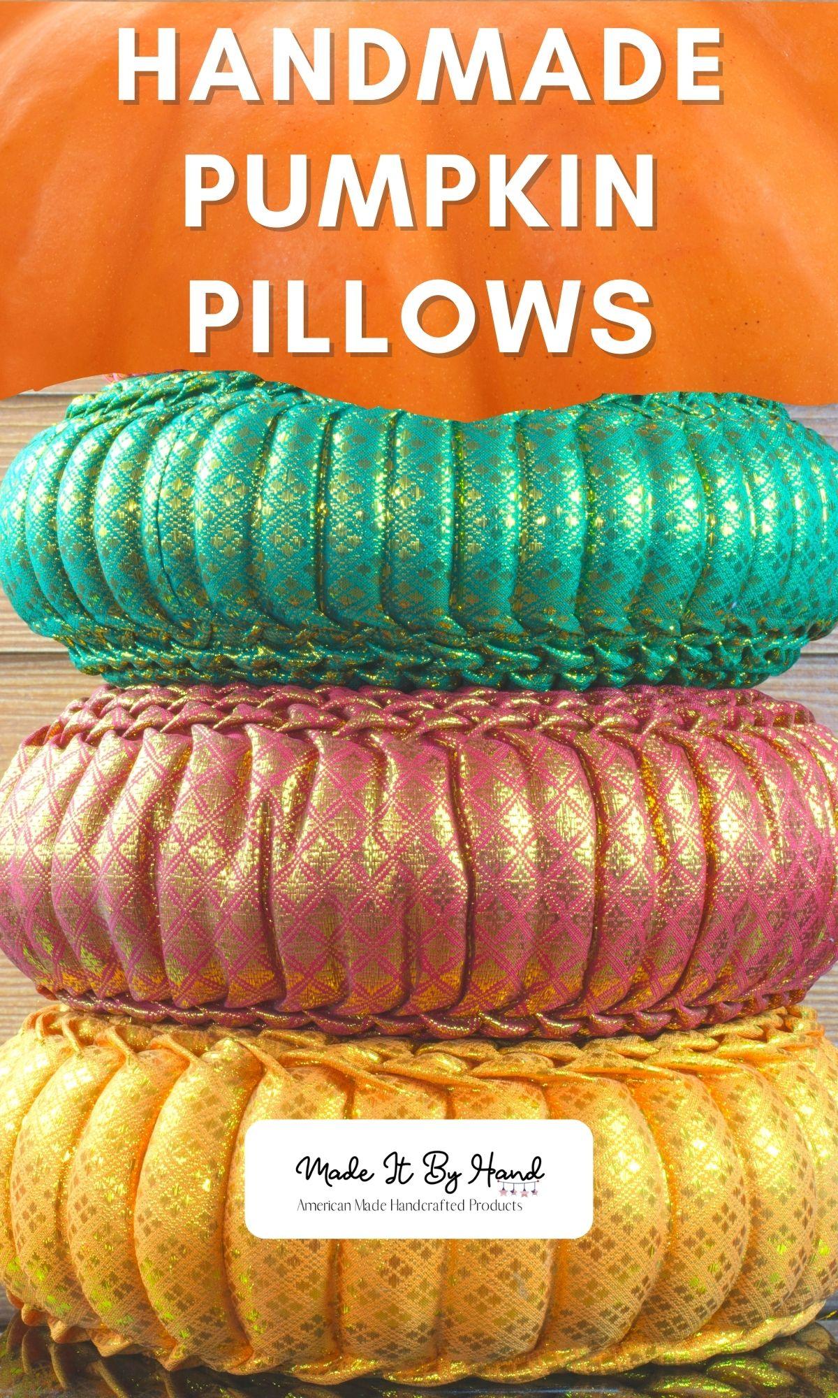 Handmade pumpkin pillow