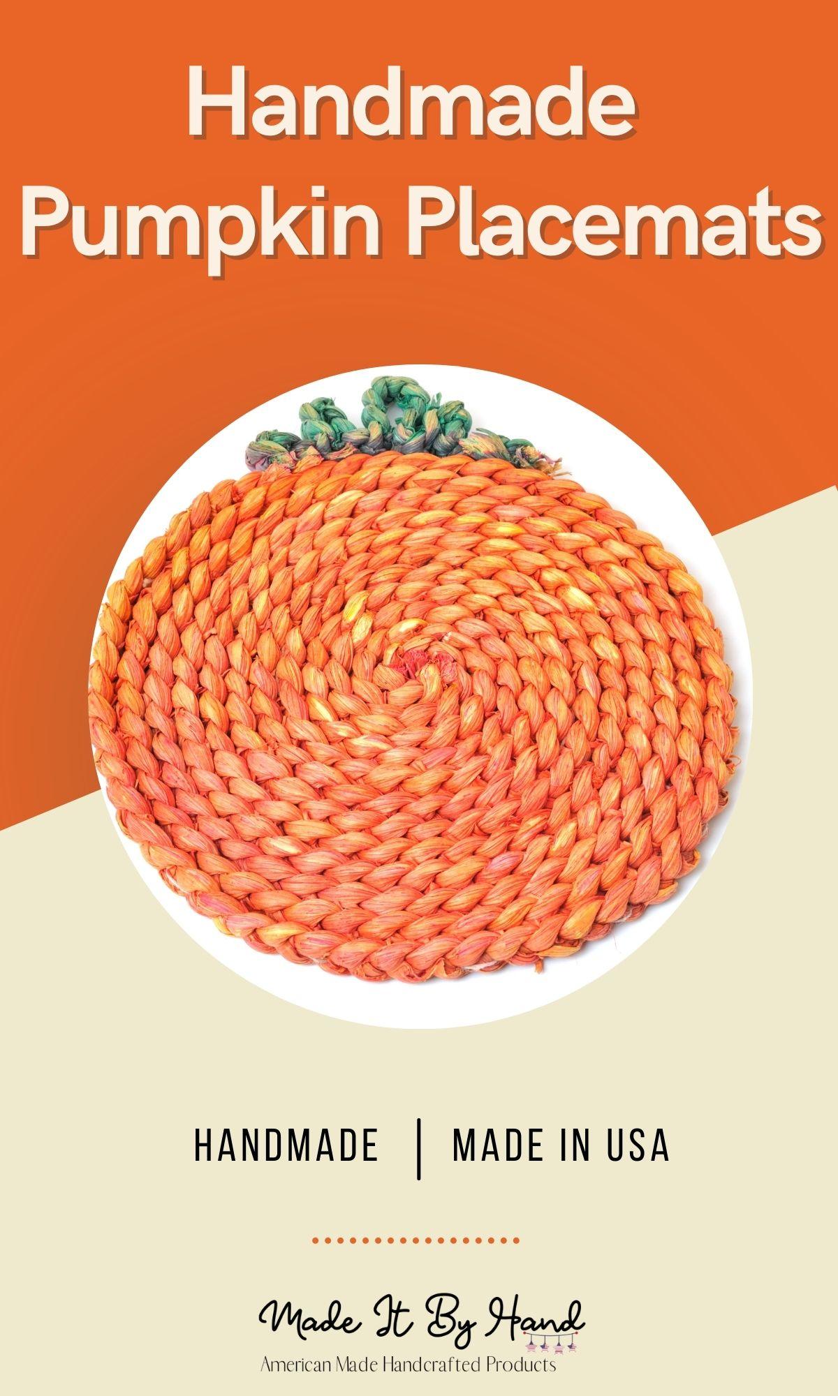 Handmade pumpkin placemats